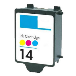 Cartouche N°14 3 couleurs 400 pages 23ml AS pour HP Officejet 7100