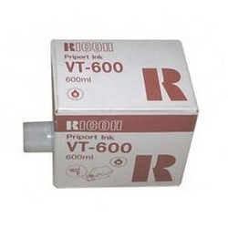 Pack of 5 inks red 5 x 600cc for RICOH VT 600