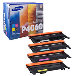 Pack 4 toners couleurs BK 1500 pages CMY 1000 pages SU375A pour HP CLX 3300