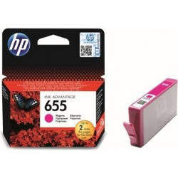 Cartouche N°655 magenta 600 pages pour HP Deskjet Ink Adv 6525