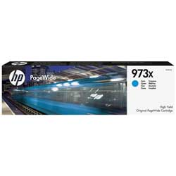 Cartouche N°973X encre cyan HC 7000 pages pour HP PageWide Managed P57750