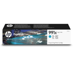 Cartouche N°991X encre cyan 16.000 pages pour HP PageWide PRO 772